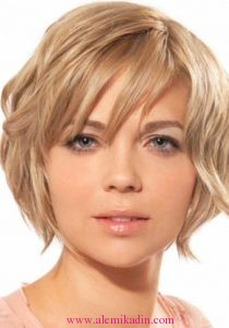 Üçgen Yüzler İçin Saç Modelleri 2