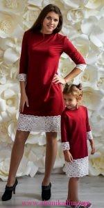Anne-ve-Kız-Kırmızı-Elbise-Kombini-2-150x300