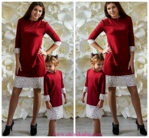 Anne-ve-Kız-Kırmızı-Elbise-Kombini-300x278