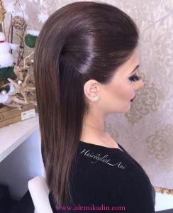 Düz Fönlü Saç Modelleri 4