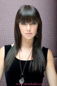 Düz Fönlü Saç Modelleri 5