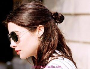 Yarım Topuz Saç Modelleri 5