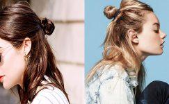 Yarım Topuz Saç Modelleri